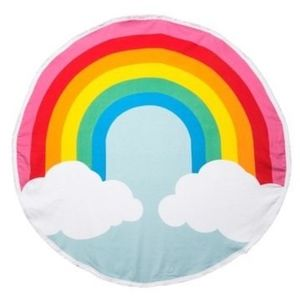Round Rainbow Beach Towel